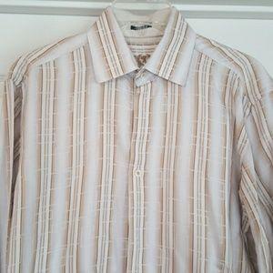 Bugatchi uomo button down long sleeves shirt, M